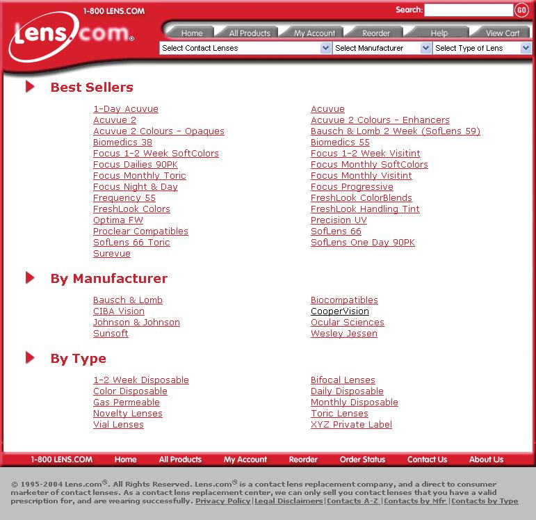 Lens.com Product