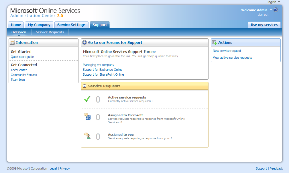 Microsoft Online Services Support Overview